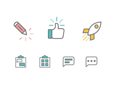 Employee Satisfaction Dashboard - Icons comment icon edit icon launch icon icon