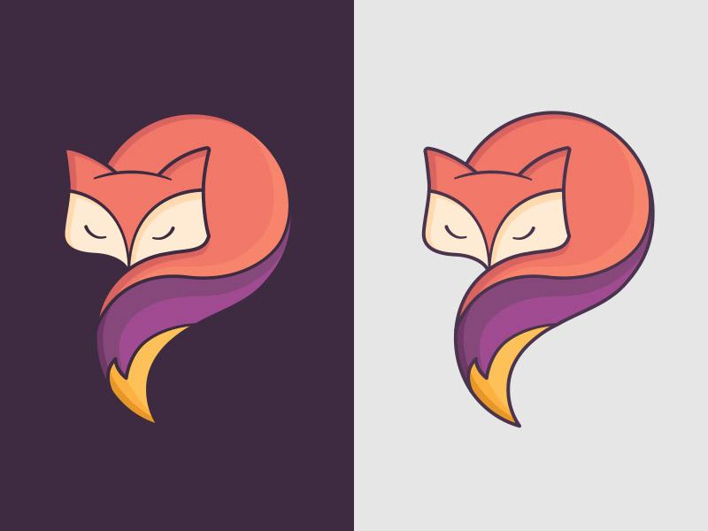 No Fox Given yellow purple illustration fox