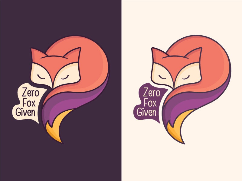 Zero Fox Given purple fox illustration purple fox