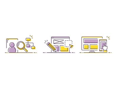 UX, UI and Mobile portfolio illustration