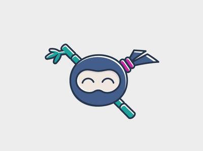 Ninja Logo work in Progress illustration ninja
