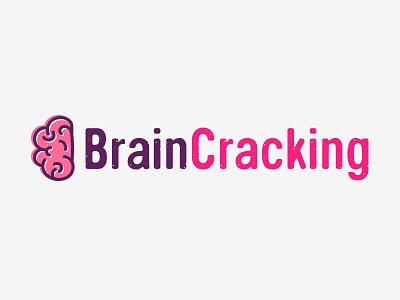 BrainCracking brain logo logo brain