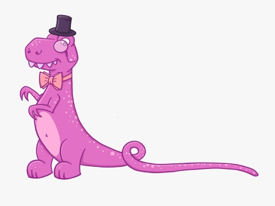 Long Tail SEO Dinosaur steam punk dinosaur pink dinosaur illustration dinosaur