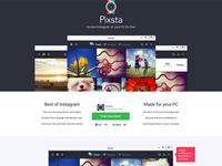 Pixsta - desktop Instagram app landing page