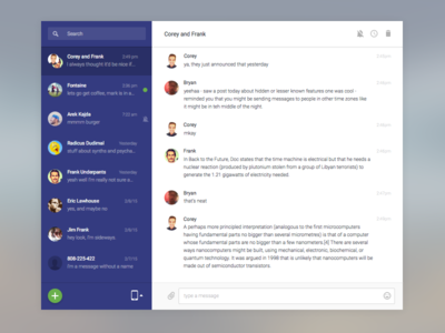Chat App sketch sms windows app android desktop ui interface app chat windows 10