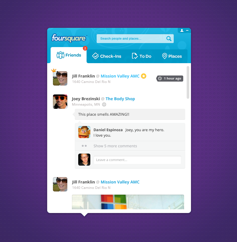 Foursquare pokki