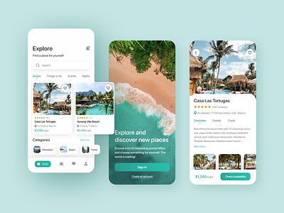 Travel App - Discover new places ui app design trip planner mobile