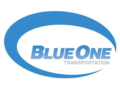 Blue One Transportation Logo graphic design branding logo design logo mark