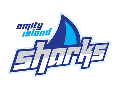 Amity Island Sharks Logo graphic design branding logo design logo mark