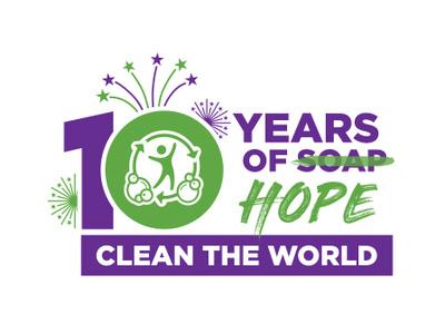 Clean the World celebrates 10 years of service logo logo mark vector logomark logo design graphic design branding