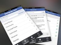 Backpage iOS app Screens