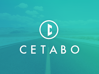 Logo Cetabo logo branding blue green circle c mark design c letter