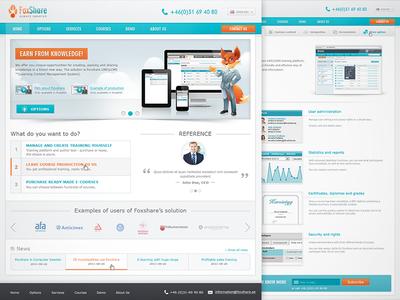 Learning Management System - Website design site lms orange blue fox learning management system web design