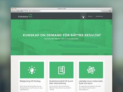 Website for Vishetens-Hus.se responsive site design green black flat ui layout business