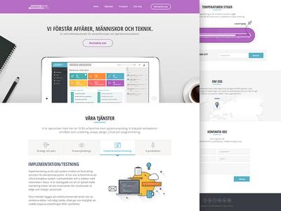 Winningtemp Site website site design app ui layout colours web design flat