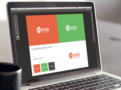 Logo Guide for Foodbooking food delivery style guide fresh food logo branding identity foodbooking