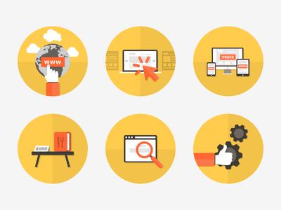 Icons set icons flat minimal simple design iconset