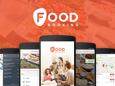 Foodbooking Android App foodbooking ui ux interface mobile app material design