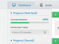 Dashboard - sidebar stats