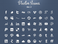 Vector Icons Set 3 - social icons