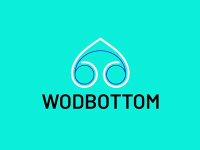 WodBottom vector icon logo illustration design branding