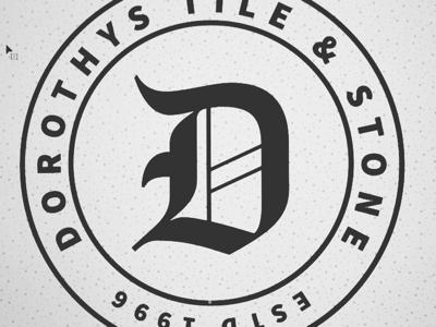 Dorothy's Tile & Stone Alternate Brand Badge Concept adobe illustrator graphic design branding logo