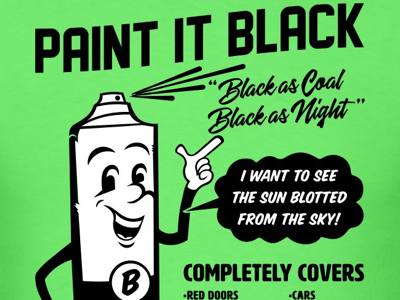Paint it Black pop art cartoon shirt