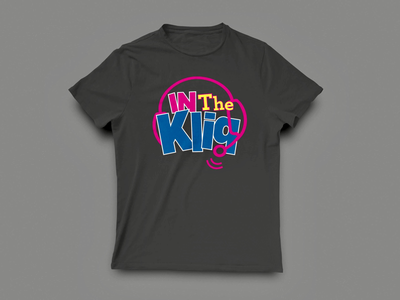 """""""In the Kliq"""" Podcast Logo T-Shirt minimalism typography wrestling parody graphic tees apparel branding logos podcasts cumulus"""