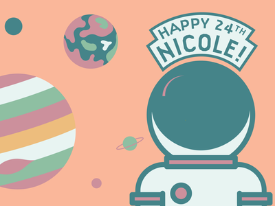 Birthday Card Full View graphic design print