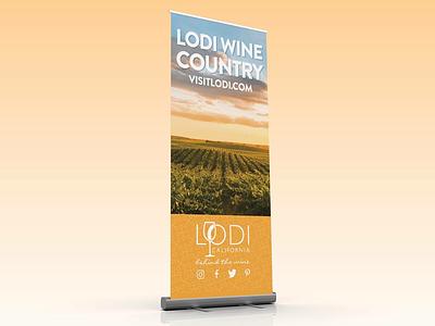 Lodi Visitors Bureau Tradeshow Asset Update freelance adobe illustrator prints identity graphic design banners marketing