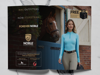Noble Equestrian 2 Page Layout branding advertising graphic design print design