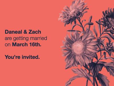 My wedding invites
