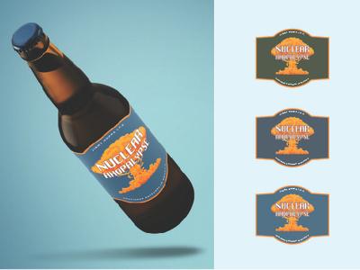 Nuclear Ahopalypse Bottle logo beer branding beer bottle bottle design bottle label label design packagedesign branding