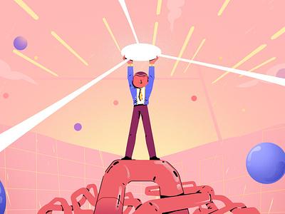 Alone man 2D illustration 🔥 - Part 3 illustrator motion graphics motion ui cute character man alone animation animate illustration 2d design