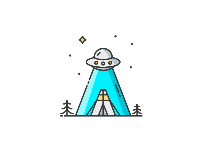 A is for Alien typography woodss alien ufo ship illustration icon design a alphabet 36daysoftype
