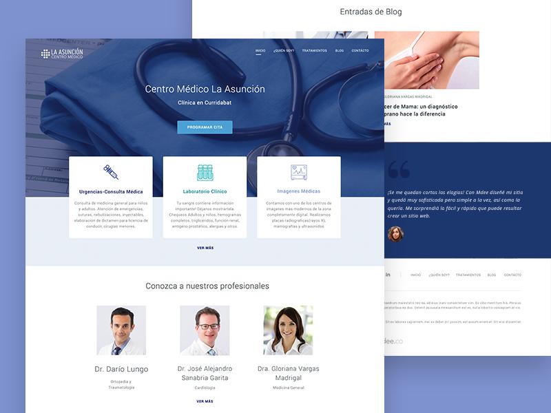 MDEE Website blog icon header ux design landing ui web doctor medical