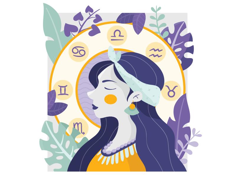 La Plume foliage costa rica icon girl nature plants women design ilustracion vector ai illustrator ui illustration art vector art avatar