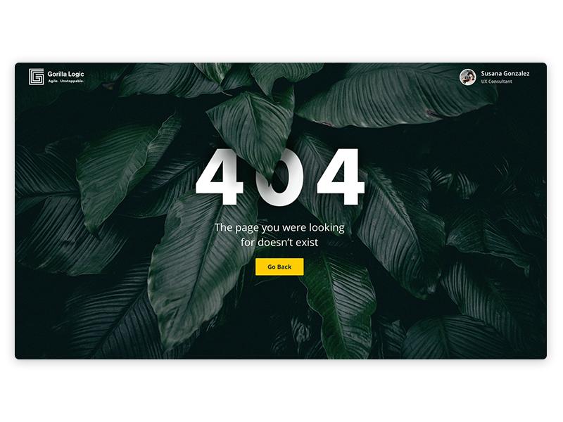 404 empty page landing 404 error page web design green plants jungle error error 404 ui 404 page 404