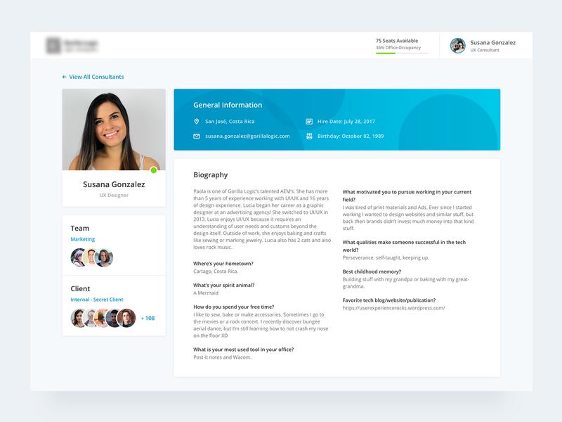 User Profile people client card progressbar directory biography design ui profile card photo dashboad dashboard app user profile professional ui  ux design profile