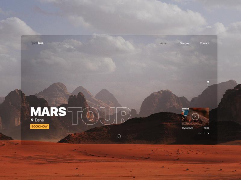 Mars Tour minimal webdesign website design ui