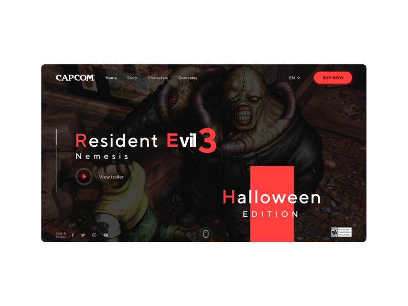 Resident Evil 3 #shot weekly warm-up ui halloween sketch design webdesign resident evil