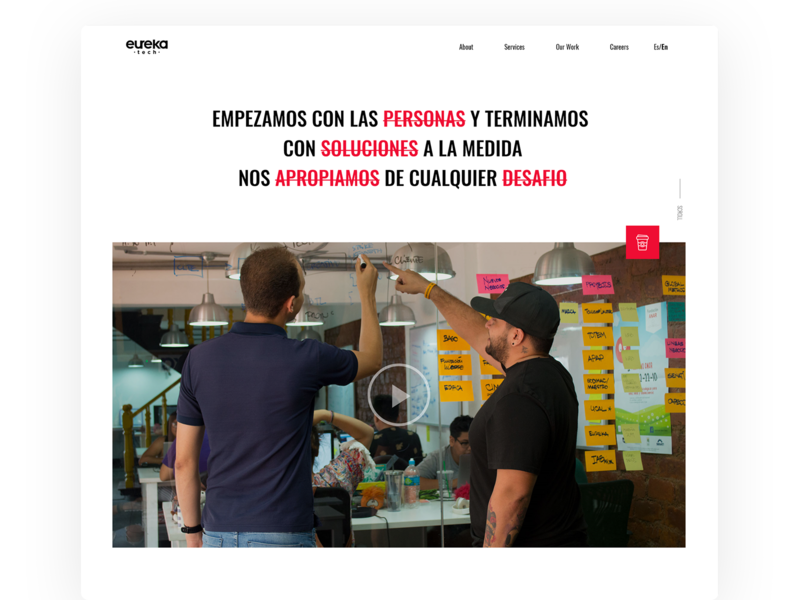 Eureka Tech website design ui website webdesign