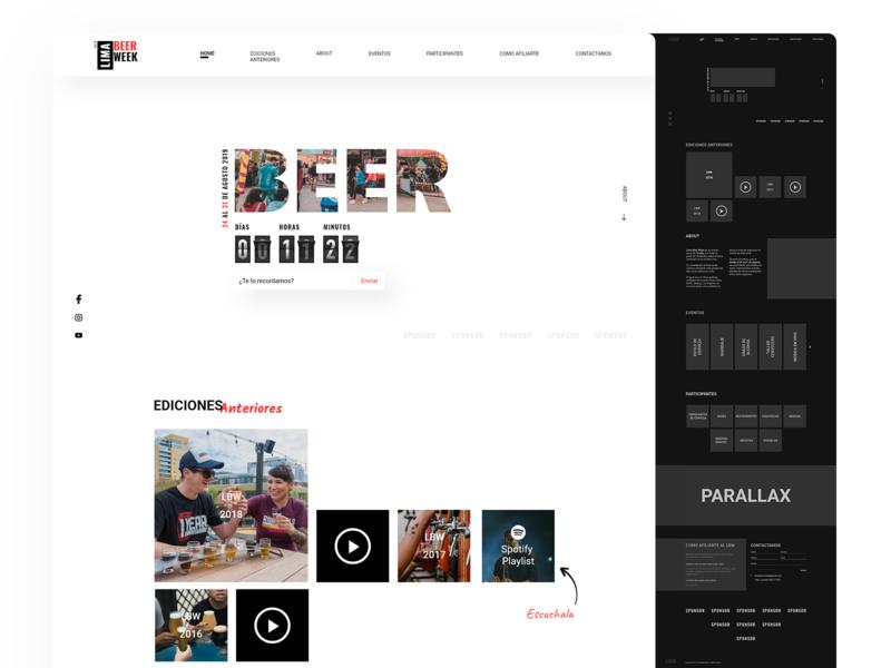 Lima Beer Week Website minimal design dark mode webdesign ui website