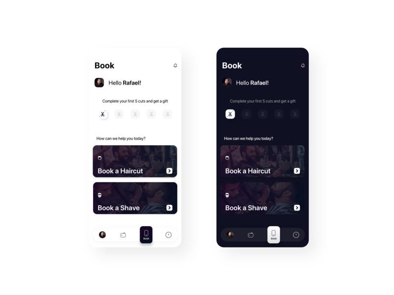 Design Book Screen for Klipped App darkmode android ios uidesign ui app design