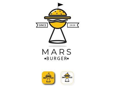 Mars Burger design illustration logo graphic design