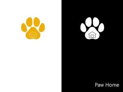 Paw Home illustration logo graphic design