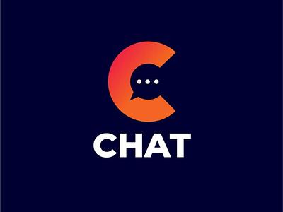 Chat illustration logo graphic design