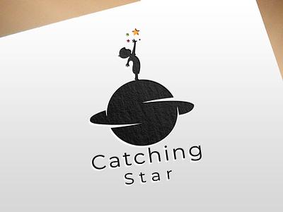 Catching Star illustration logo graphic design