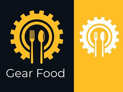 Gear Food illustration logo graphic design