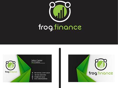 Frog Finance design illustration logo graphic design